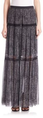 Elie Tahari Arlington Silk Maxi Skirt $448 thestylecure.com