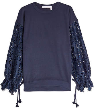See by Chloe Lace and Jersey Top