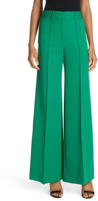 Milly Hayden Stretch Crepe Pintuck Wide Leg Pants