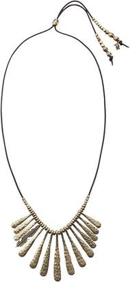 Lucky Brand Indian Spice Gold Fan Necklace Necklace