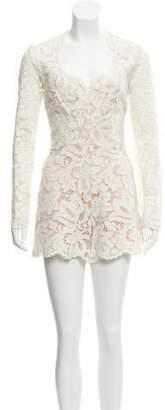 Alexis Lace Mini Romper White Lace Mini Romper