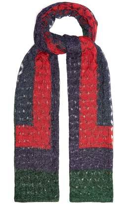 Missoni Geometric fine-knit scarf