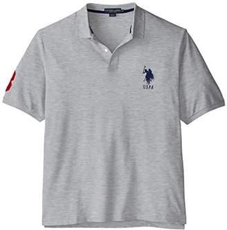 U.S. Polo Assn. Men's Big-Tall Solid Pique Polo,2X