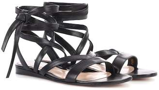 Gianvito Rossi Exclusive to mytheresa.com – Janis Flat leather sandals