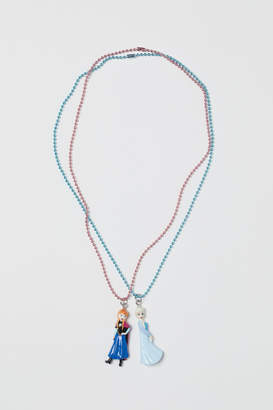 H&M 2-pack Necklaces with Pendant - Turquoise