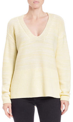 Lord & Taylor Oversized V-Neck Pullover $94 thestylecure.com