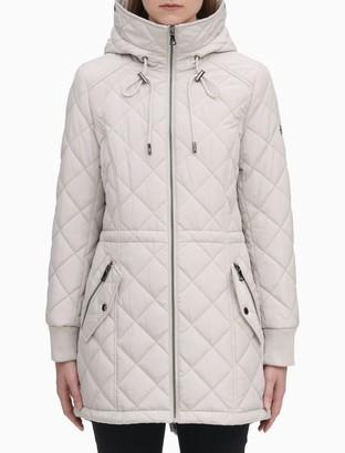 Calvin Klein Quilted Zip Hooded Parka