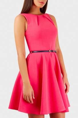 Pink Poodle Boutique Belted Skater Dress