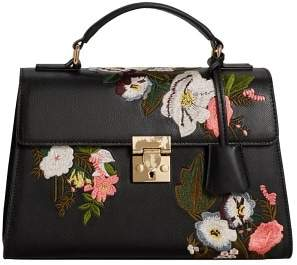 MANGO Floral embroidery bag