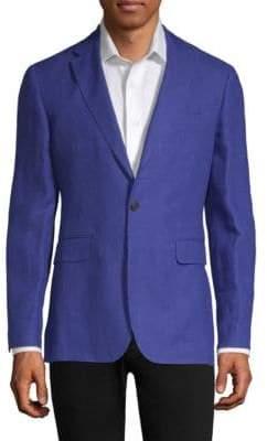 Burberry Slim Fit Linen Unlined Blazer