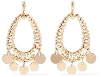 Eddie Borgo Batik Gold-plated Cubic Zirconia Earrings