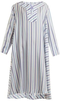 Thierry Colson Samia Silk Ottoman Cover Up - Womens - Blue Stripe