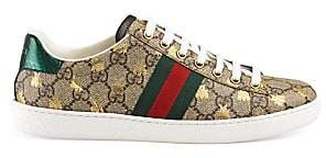 Gucci Women's New Ace Logo Sneakers With Bee