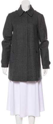 Burberry Button-Up Wool Coat
