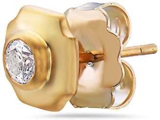Artisan 10K Gold Diamond Stud Earring