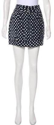 Nili Lotan Printed Mini Skirt