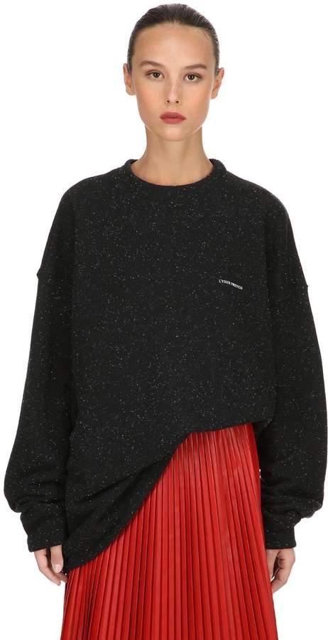 Rollercoaster Print Cotton Sweatshirt
