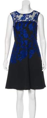 Ellen Tracy Guipure Lace Knee-Length Dress