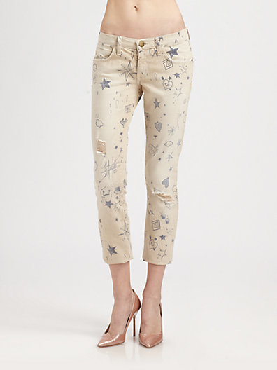 Current/Elliott The Stiletto Distressed Jeans