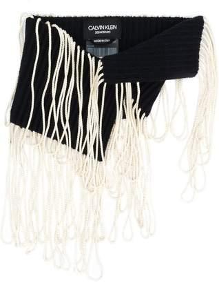 Calvin Klein fringed scarf
