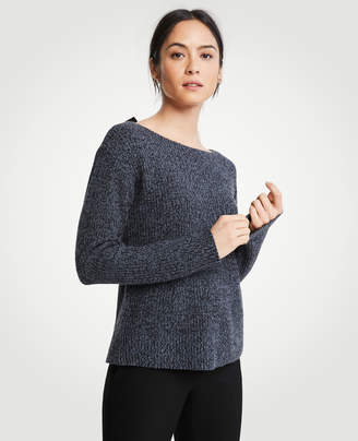 Ann Taylor Petite Marled Tie Back Sweater