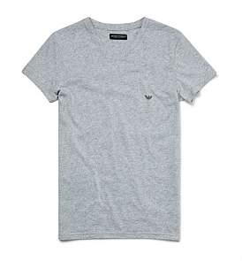 Emporio Armani Melange Cotton Stretch V-Neck T-Shirt