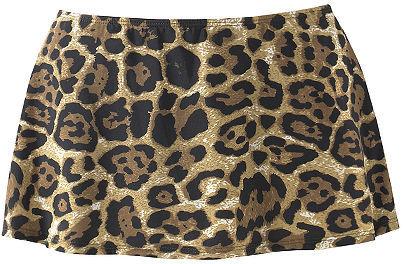 Leopard-Print Skirted Bikini Swimsuit Bottom