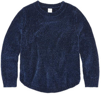 Arizona Long Sleeve Chenille Sweater - Girls 4-16 & Plus