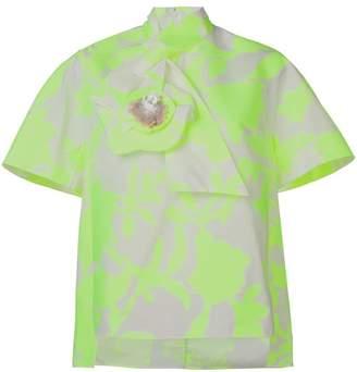 DELPOZO floral print blouse