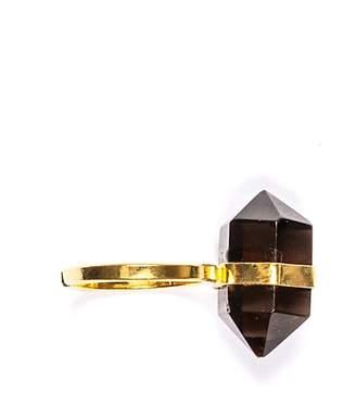 Tiana Jewel - Goddess Bi-Terminated Smokey Quartz Ring Gold
