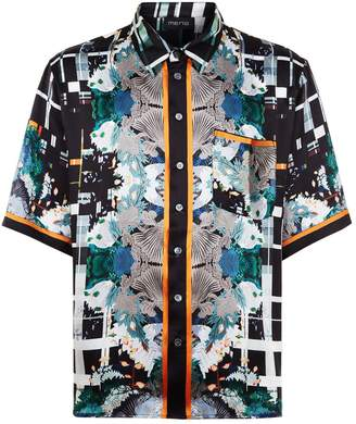 Meng Silk Print Lounge Shirt
