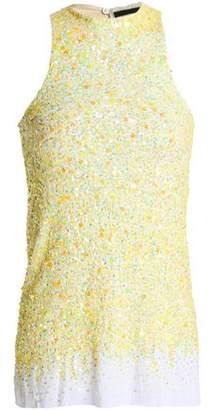 Haider Ackermann Sequined Cotton Top