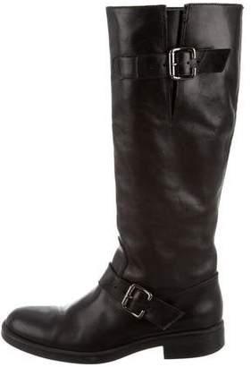 Studio Pollini Leather Knee-High Boots