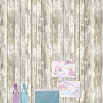 Room Mates Peel and Stick 16.5' x 20.5 Wood Distressed Wallpaper Roll