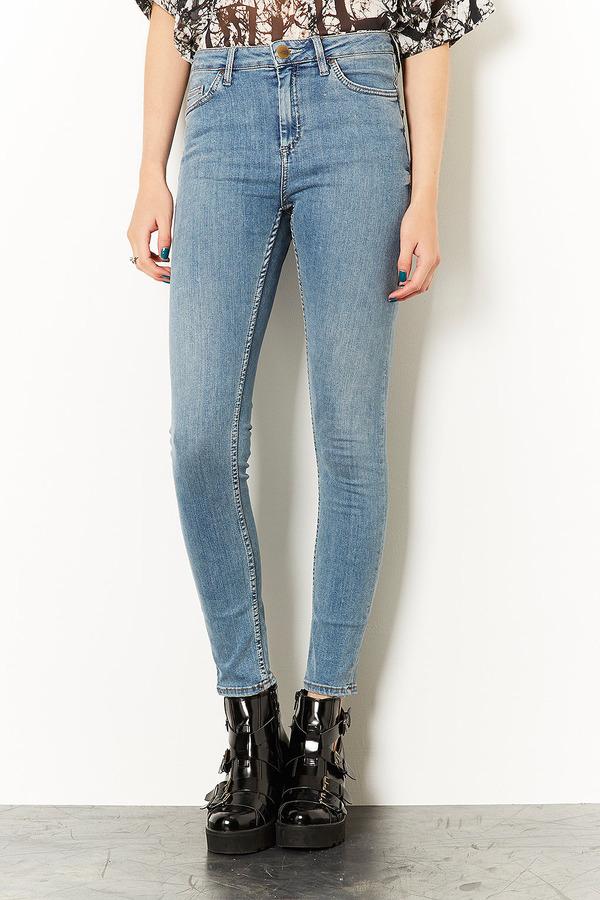 Topshop MOTO Light Vintage Jamie High Waisted Jeans