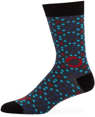 Maceoo Men's Polka Dot Bamboo-Knit Socks