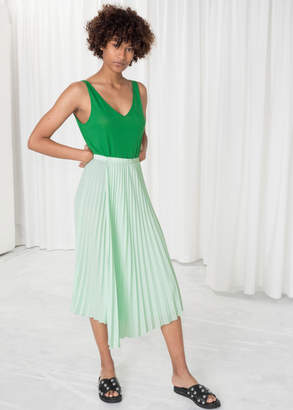 And other stories Asymmetric Pleated Midi Skirt