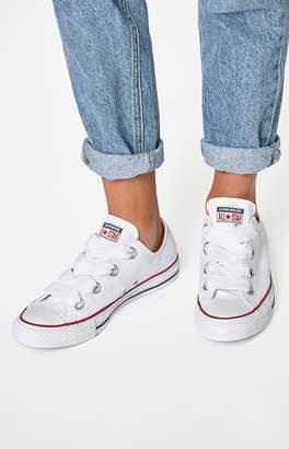 Converse White Big Eyelet Low Top Sneakers