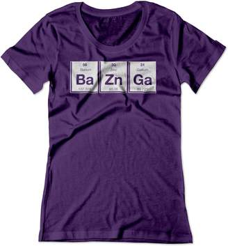 Theory BSW Women's Bazinga Periodic Table Big Bang Sheldon Shirt LRG