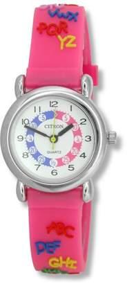 Citron KID014 Kids Pink Alphabet Time Teacher Watch