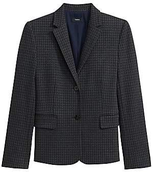 Theory Women's Houndstooth Knit Shrunken Jacket