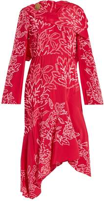 Peter Pilotto Floral-embroidered silk-crepe dress
