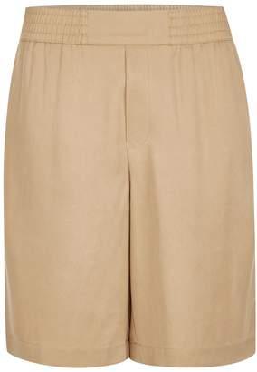 Topman Stone Tencel Long Length Shorts