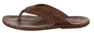 Bruno Magli Woven Leather Flip-Flops