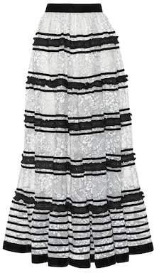 Huishan Zhang Victoria lace maxi skirt