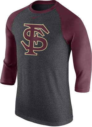 Nike Men Florida State Seminoles Triblend Logo 3/4 Sleeve Raglan T-Shirt