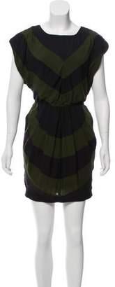 Alice + Olivia Silk Striped Mini Dress