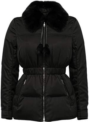 Prada Down Jacket With Mink Fur Collar