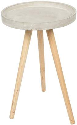 Small Round Concrete Side Table