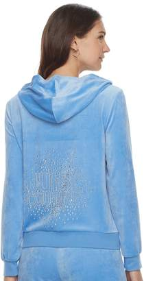 Juicy Couture Women's Graphic Velour Hooded Jacket